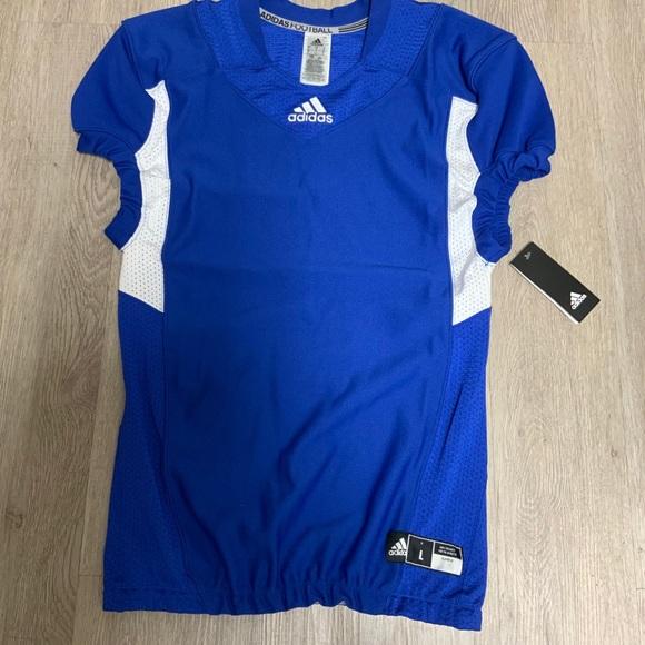 blue football jersey blank